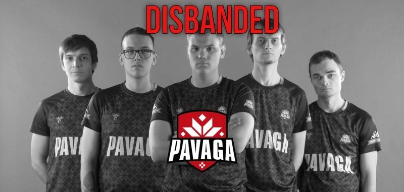 Pavaga Gaming распустила один из составов